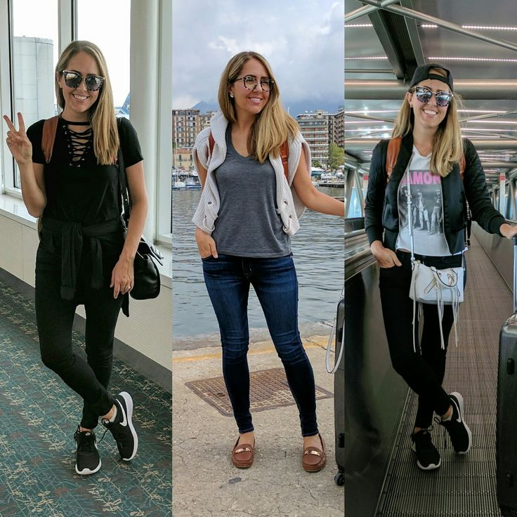 Airport travel outfits