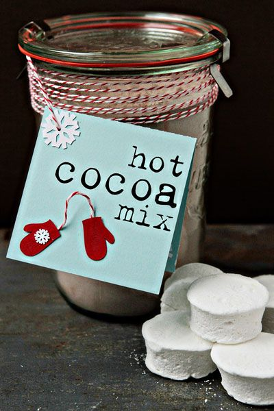 Dutch-process cocoa, confectioners' sugar and powdered milk create a delicious Hot Cocoa Mix that is perfect for gift giving.