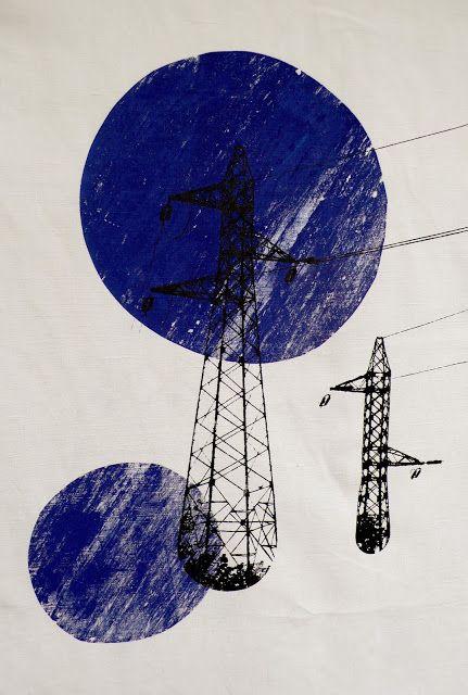 alice leblanc laroche, nouvelle créations ! En vente à l'espace beaurepaire, à l'exposition annuelle des Petites Manufactures des Pépins du mardi 10 au dimanche 15 décembre à l'espace Beaurepaire - M° République de 11h à 20h; motif; pattern; fils électriques; bleu; rond;Rouge Manufacture;