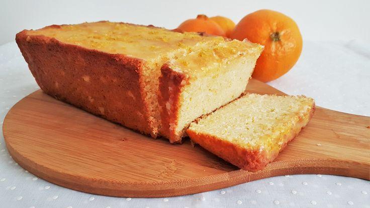 Panqué de mandarina glaseado/ Glazed tangerine pound cake