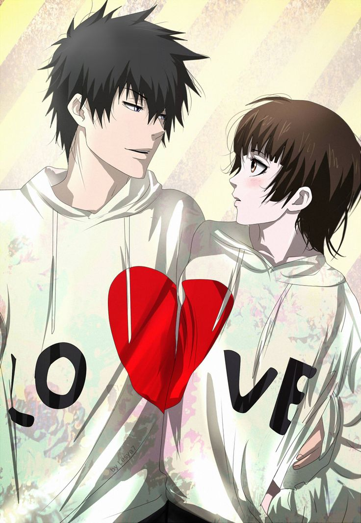 Psycho-pass: Kogami x Akane: Love hug by Lesya7.deviantart.com on @DeviantArt
