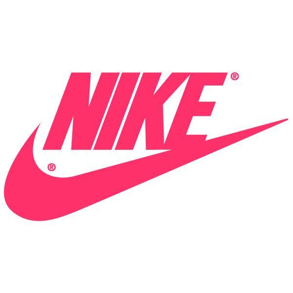Hot Pink Nike Logo | Nike Swoosh Logos ❤ liked on Polyvore