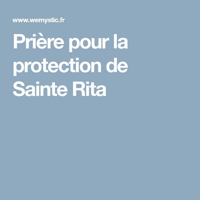Prière pour la protection de Sainte Rita