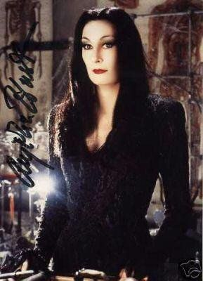 Anjelica Huston as Morticia