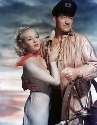"""Vintage Glamour Girls: Lana Turner & John Wayne in """" The Sea Chase """""""