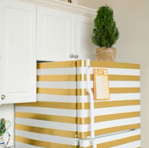 Discover clever ways to refresh the appearance of your refrigerator with paint, polaroids, chalkboard paint, and more! Find home DIY projects and DIY home decor on Domino.