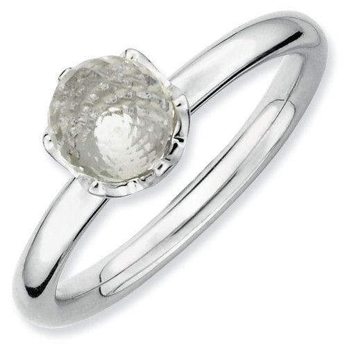 Zales Stackable Expressions Citrine Briolette Ball Ring in Sterling Silver