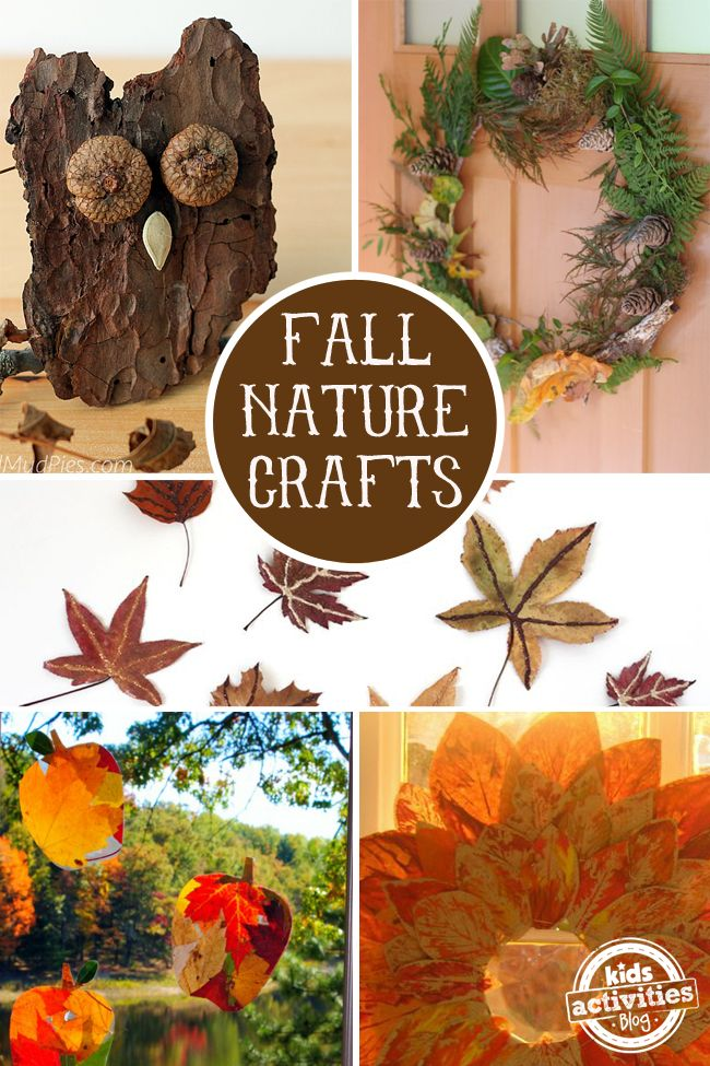 Fall Nature Crafts for Kids! Get creative this autumn with simple and fun kids crafts.