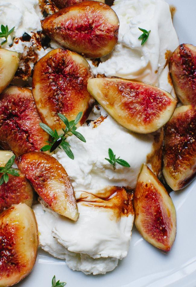 figs, burrata and balsamic reduction...