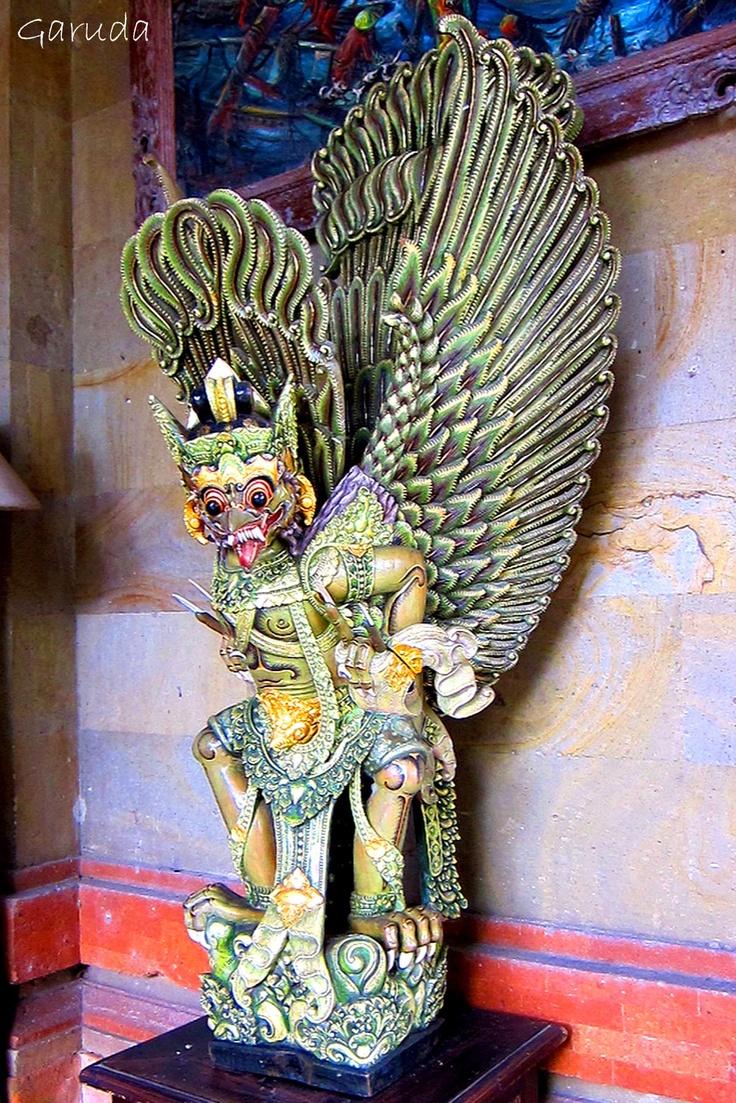Garuda woodcarving, Mas, Bali (JAS, 1997).