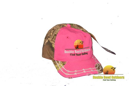 Double Reed Outdoors℠ Women's Pink / Realtree MAX-1 Camo Hat, Baseball Cap,