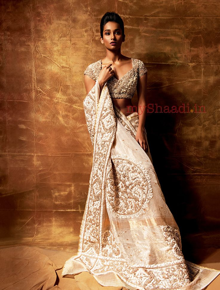 Indian Designs used in fashion in a great way #saree #sari #blouse #indian #outfit #shaadi #bridal #fashion #style #desi #designer #wedding #gorgeous #beautiful