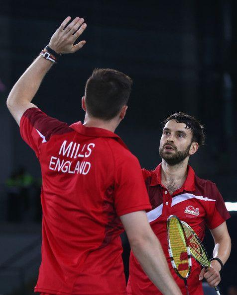 Chris LANGRIDGE and Peter MILLS [Bronze], [Men's doubles]  Badminton England