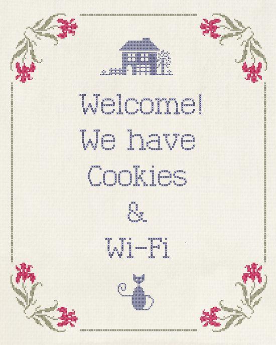 Cookies & Wi-Fi Art Print