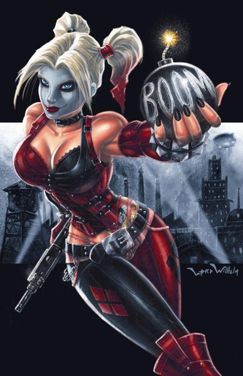 Harley Quinn - one of my favorite Batman villains.   Fan Art   Pinterest   Harley quinn, Joker and harley quinn and Joker and harley