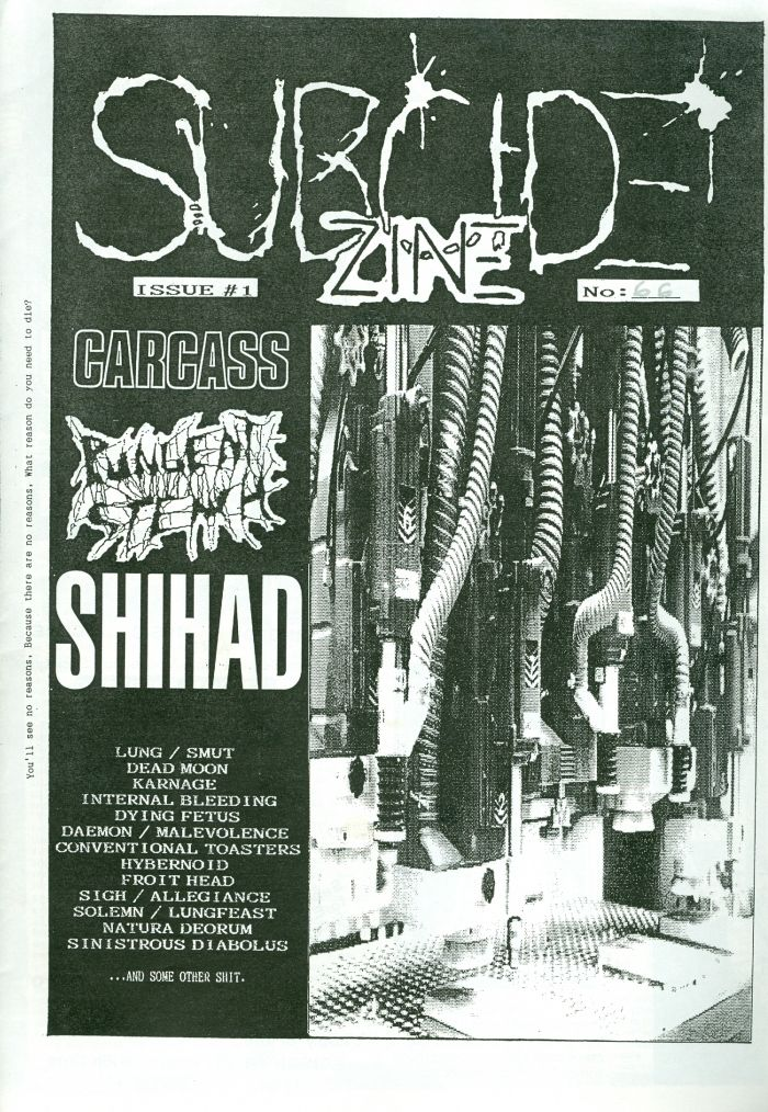 Subcide Zine #1 cover