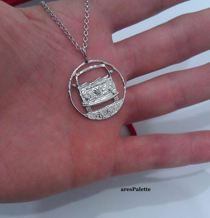 #vw #vwcampervantent #volkswagen #silvernecklace #carjewelry  http://Volkswagen T 2 Bus Necklace-925 Silver-Handmade