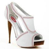 Baseball heels. @Ashley Walters Walters Walters Laramee christmas present ;)