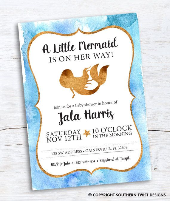 51 best baby shower invitations images on pinterest travel baby a little mermaid is on the way this mermaid baby shower invitation will be customized filmwisefo Image collections