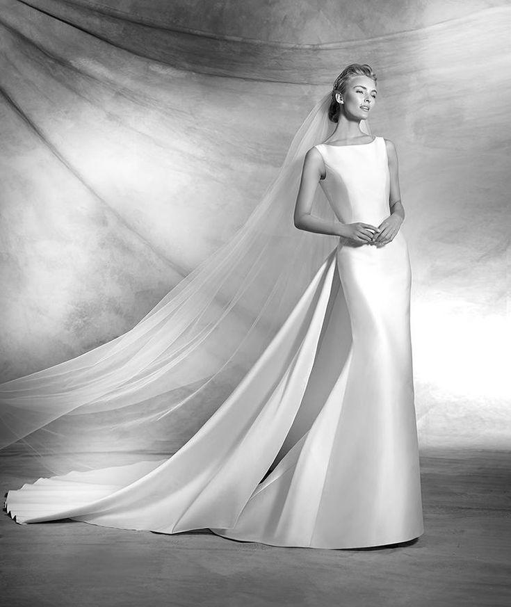 Verena, abito da sposa in stile sirena con scollatura a barca e dallo stile classico