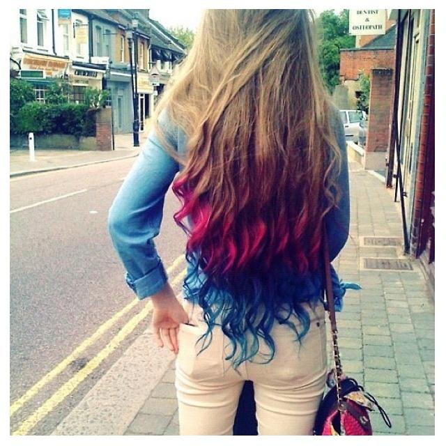 Dyed hair tips | Hairrrr | Pinterest