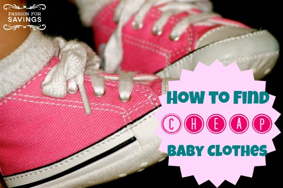 Find out how to find cheap baby clothes! #budgettips