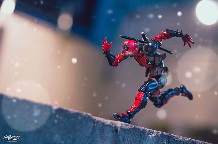 Action Figures Come To Life In Stunning Images By Japanese Photographer. Kevin Smith also does these. But Deadpool always wins my heart. I love the poofs of his breath in the air