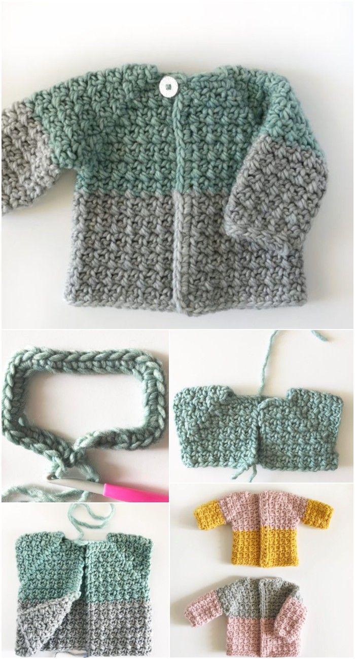Crochet Baby Sweater Patterns Free Patterns Andtutorials Maddie