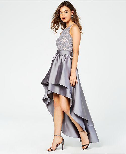 4a5e22b7ae5 Emerald Sundae Juniors  Lace-Top Asymmetrical-Skirt Gown