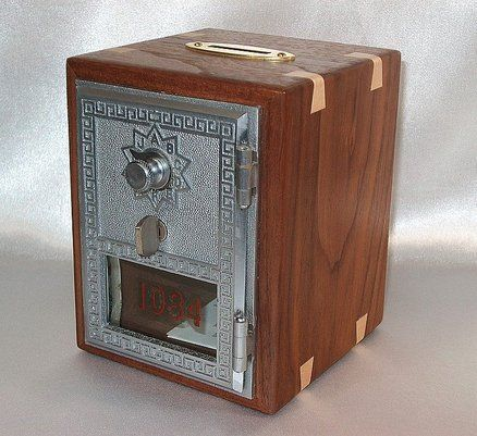 Post Office Door Box Coin Bank Woodworking Plans