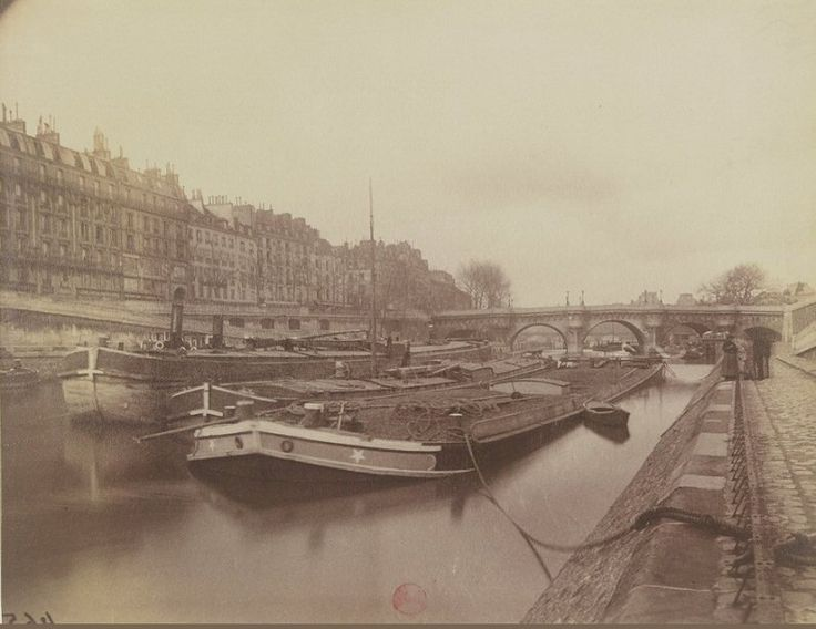 Le quai des Orfèvres photographié vers 1905 par Eugène Atget  (Paris 1er)