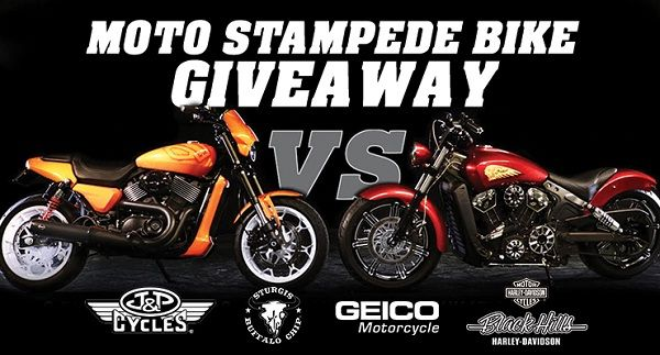 Win 2018 Indian Scout motorcycle or a 2018 Harley-Davidson Street