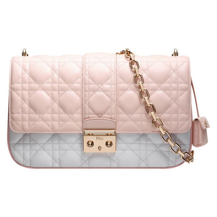 Three-tone dark pink, powder pink and grey leather \u0026#39;Miss Dior\u0026#39; bag ...