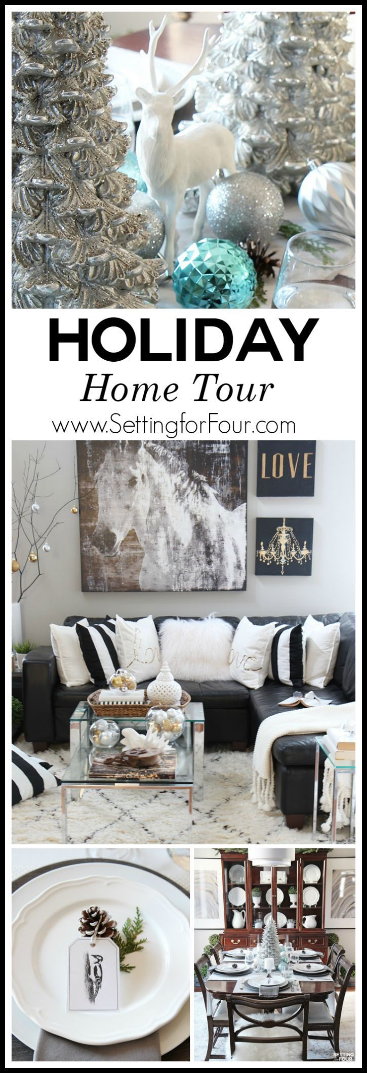 119 best Christmas Home Tours at Setting for Four images on ...