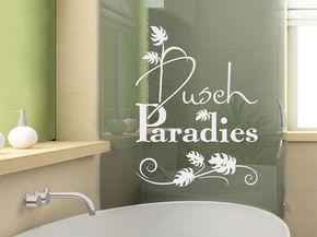 Glasdekor Fensterfolie Fensterdekor Für Badezimmer Spruch Blätter Dusche