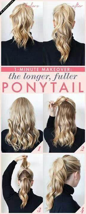 Longer and fuller pony tail