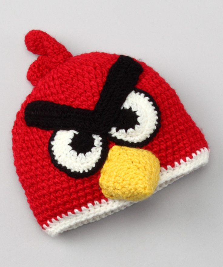 Knitted Childrens Slippers Free Pattern : Red Bird Beanie
