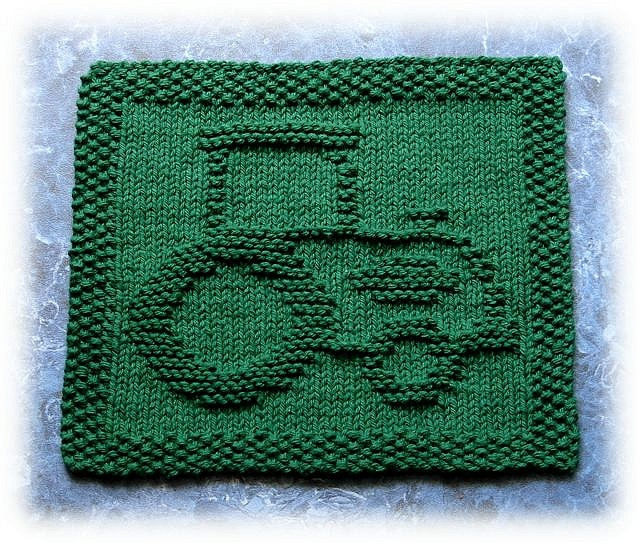 John's Tractor by Knits by Rachel, via Flickr <3 this design, would make good Christmas presents for many guys I know!