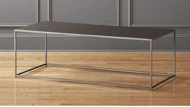 """coffee table, 52"""" long http://www.cb2.com/mill-large-coffee-table/s232941"""