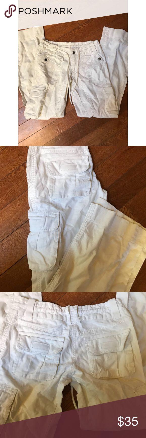 """Diesel white cargo pants Size 26 inseam aprox 31"""" Diesel Pants"""