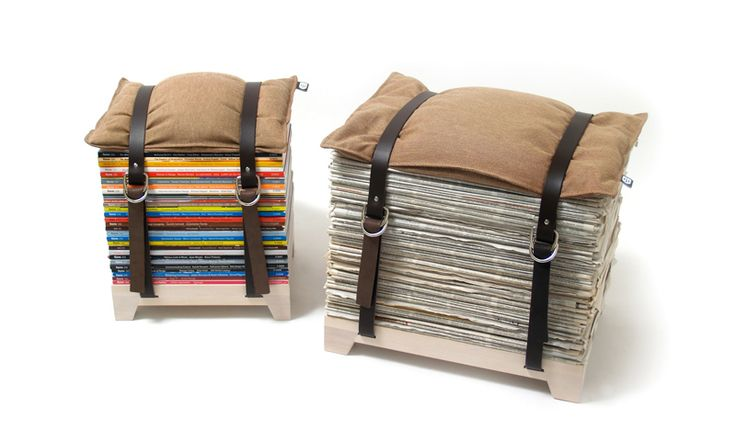 Hockenheimer by njustudio - great idea for storing your magazines and have a place to sit (http://njustudio.com/projekte/hockenheimer/)