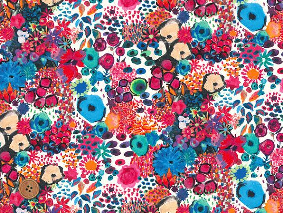 Liberty Tana Lawn Fabric, Liberty of London, Liberty Japan, Small Artist's Bloom, Cotton Print Scrap, Floral Quilt, Patchwork, JapanLovelyCrafts