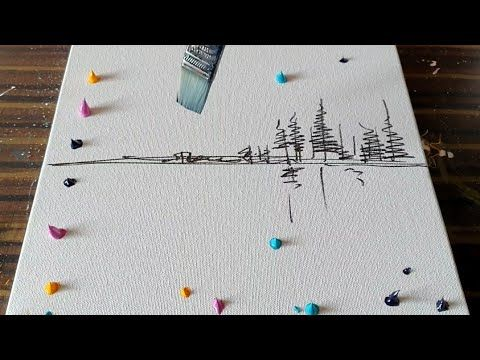Easy Abstract Painting Demo / Northern Lights / For Beginners / Relax / Daily Art Therapy / Day # 0137 – YouTube