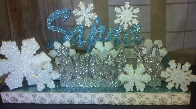 Centerpieces for winter wonderland party styrofoam