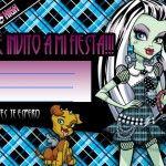 Invitaciones de cumpleaños de  Monster High