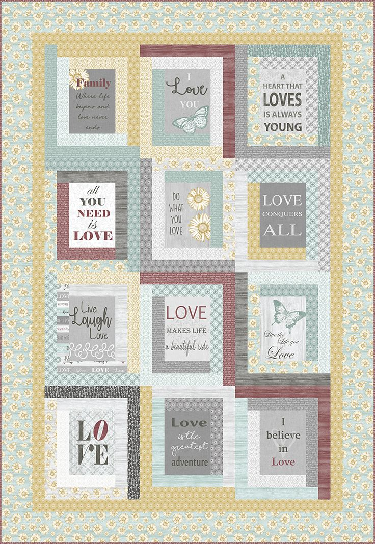 Free Pattern Now Available Live By Love Designed By Cherry Guidry Uses Her Words To Live By Collection For Co Panel Quilts Quilt Patterns Free Box Patterns