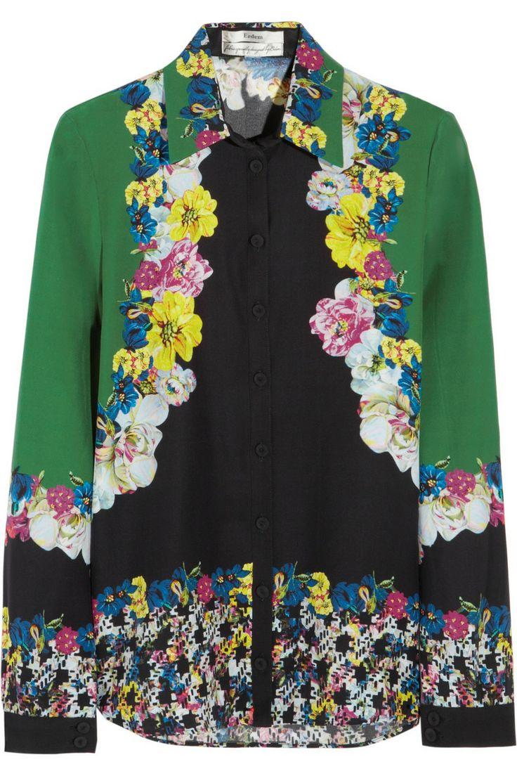 Erdem - Cecilia printed silk blouse