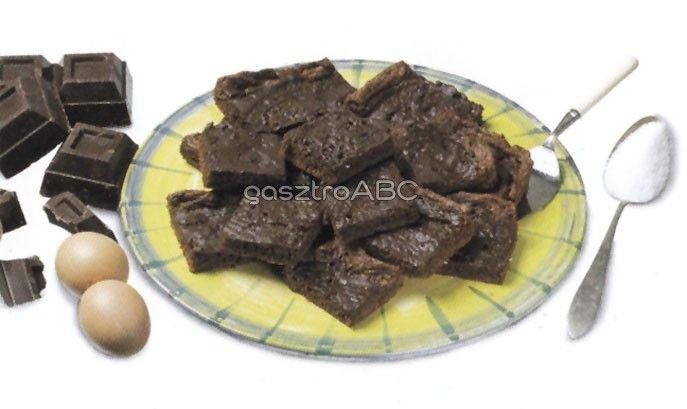 Duplacsokoládés brownie   Receptek