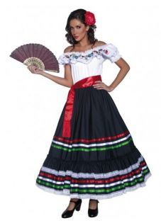 Western Senorita Mexican Womens Costume