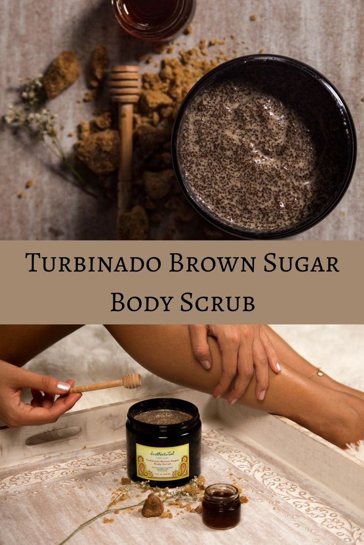 Used for centuries and loaded with antioxidants and alpha hydroxy acids, Turbinado brown sugar is the perfect base to revitalize skin by gently exfoliating and buffing away dullness.